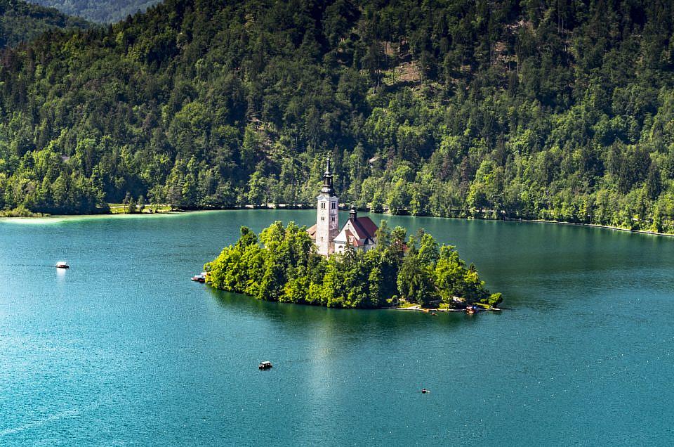 The beautiful lake Bled (Slovenia)