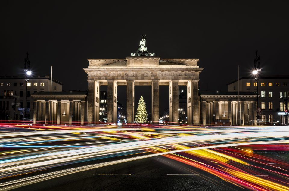 Lighttrails at the Brandenburger Tor