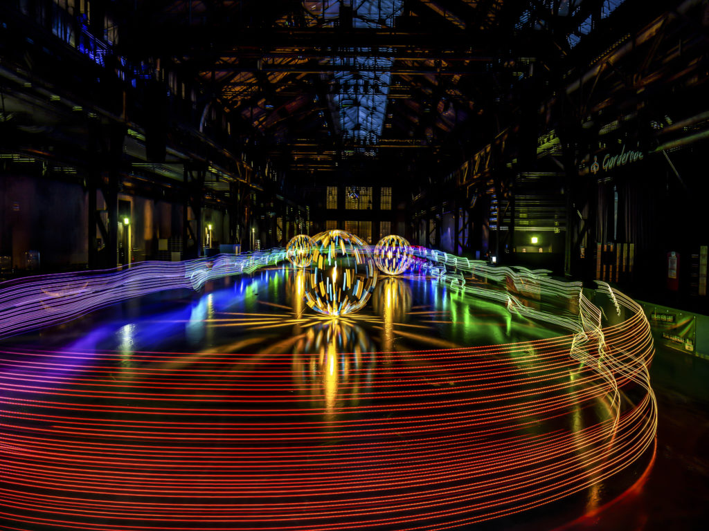 Jahrhunderthalle Eis Lightpainting