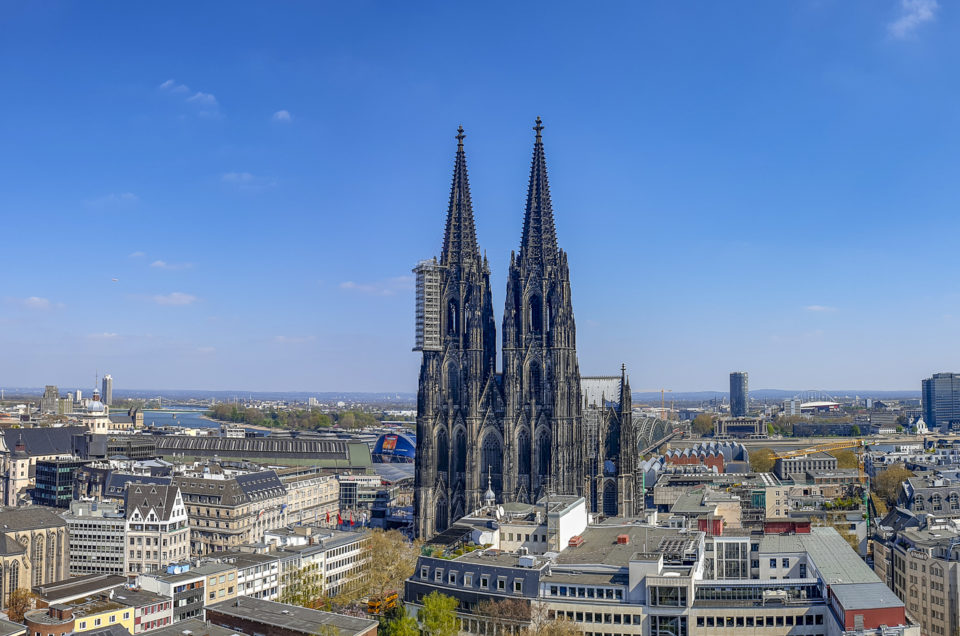 Above the roofs of Cologne